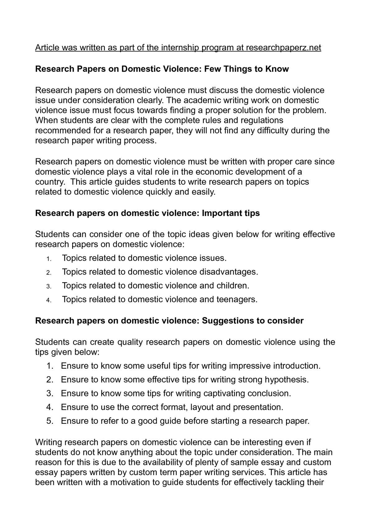 thesis domestic violence paper If you want to come up with a unique topic for your thesis on domestic violence, read this guide it explains what a good title should look like.
