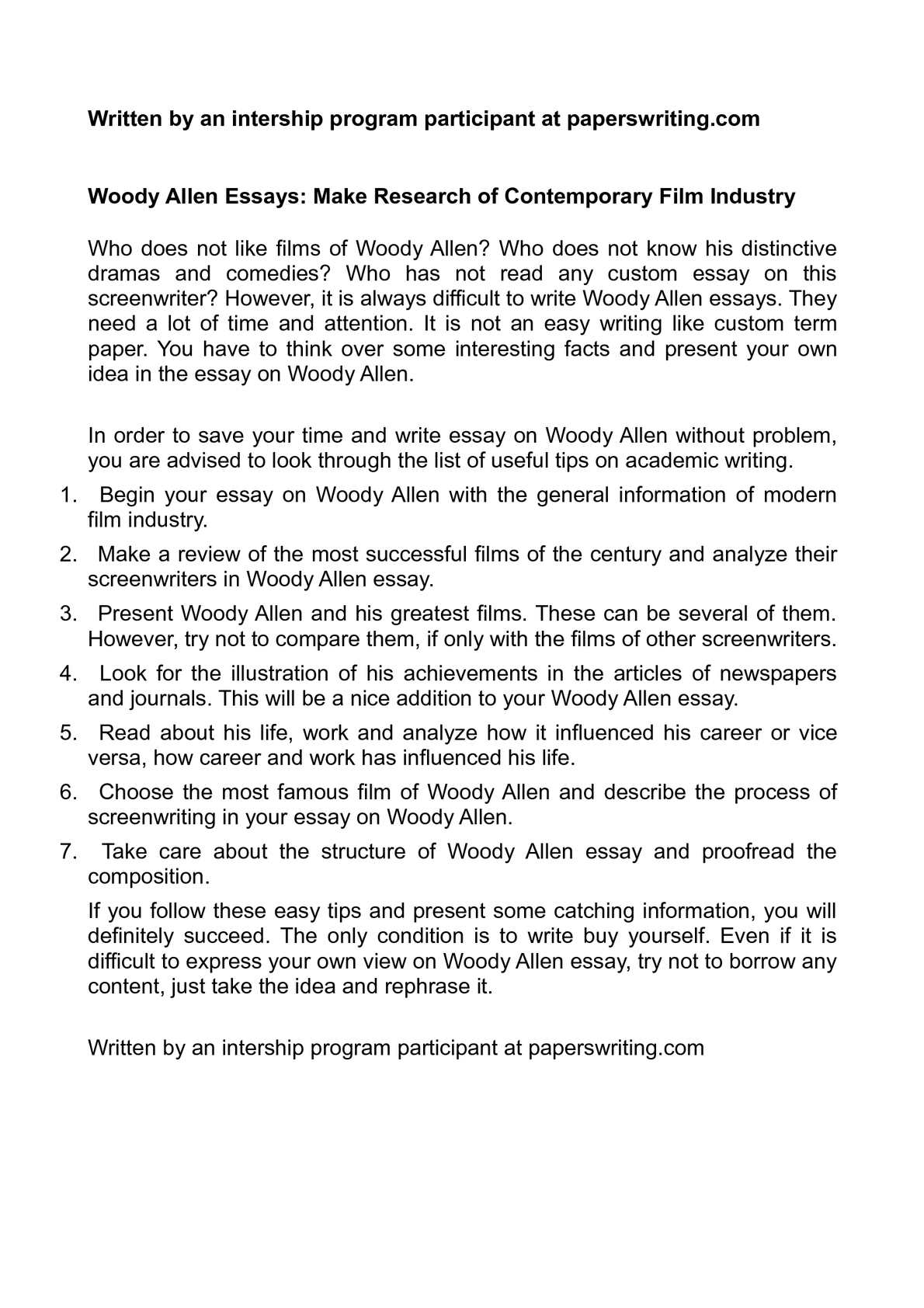 Calamo  Woody Allen Essays Make Research Of Contemporary Film  Calamo  Woody Allen Essays Make Research Of Contemporary Film Industry High School Application Essay Sample also The Benefits Of Learning English Essay  Essay Proposal Format
