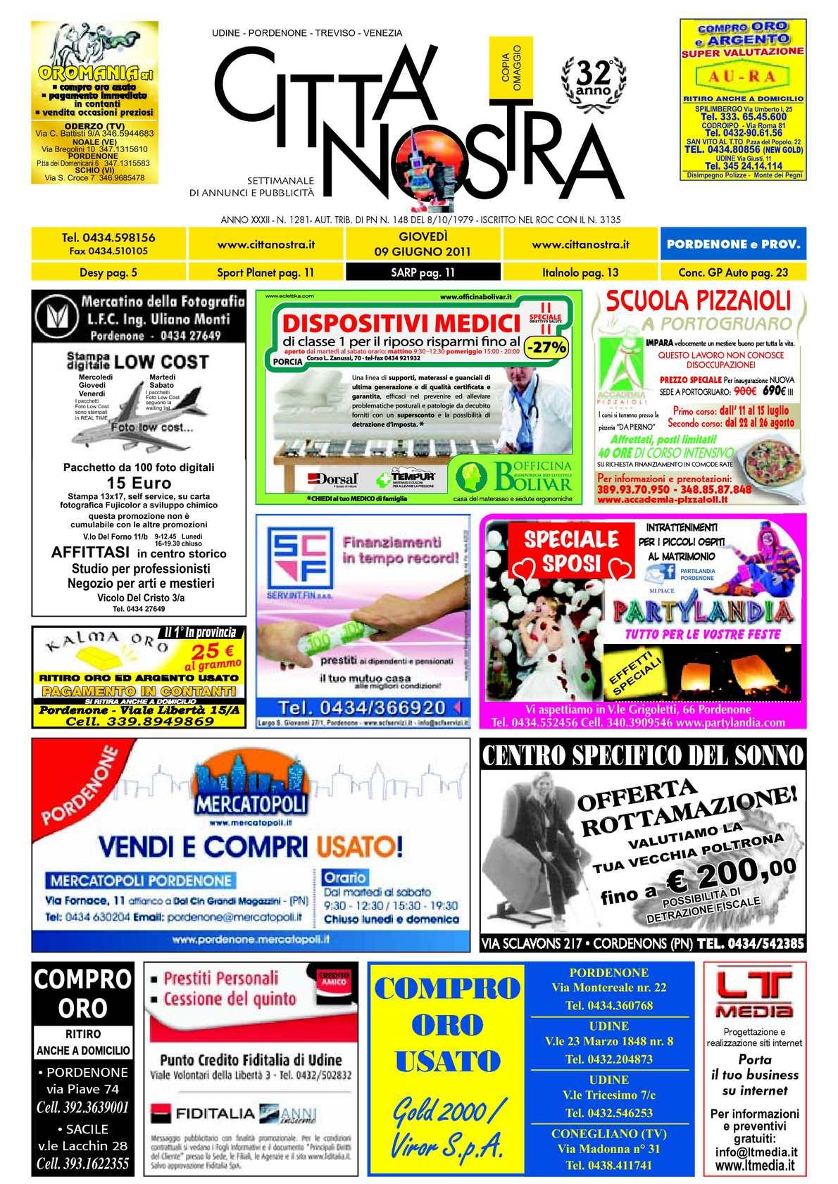 Calaméo Citt Nostra Pordenone Del 09 06 2011 N 1281