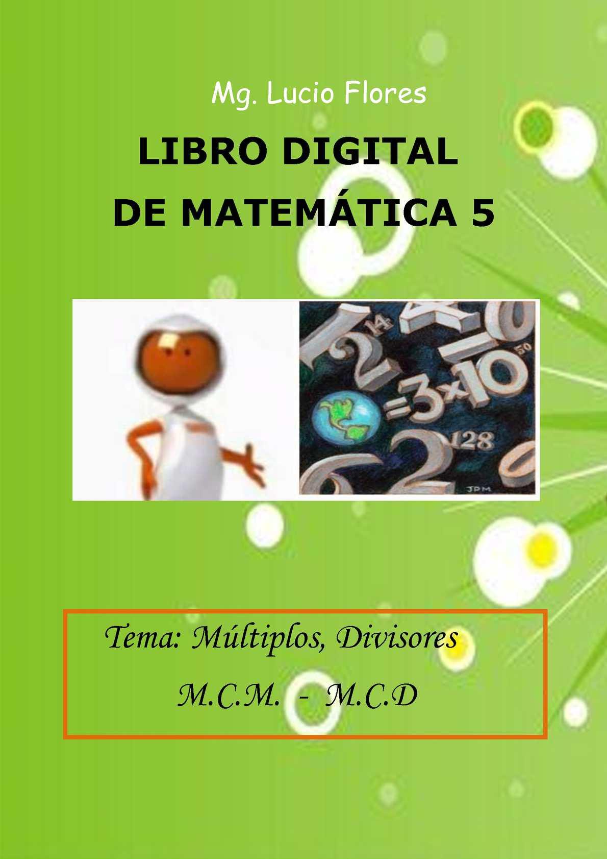 Libro Digital Lucio Flores Matemática 5 parte 3
