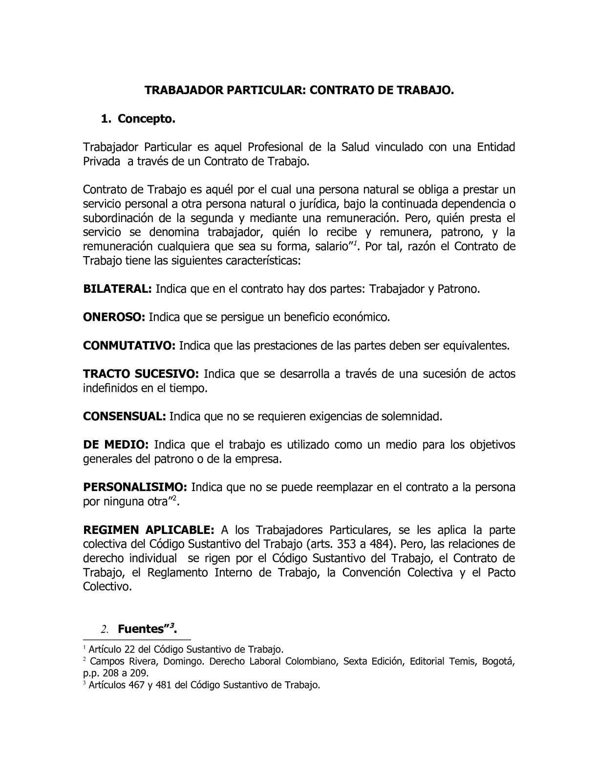 Calaméo - Trabajador Particular Concepto y Clases de Contrato