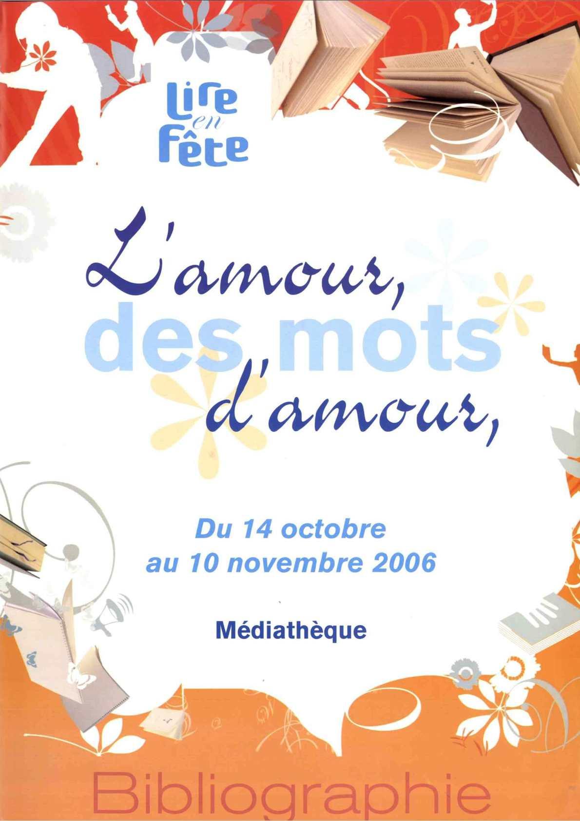 Calam o l 39 amour des mots d 39 amour - Mediatheque saint hilaire de riez ...