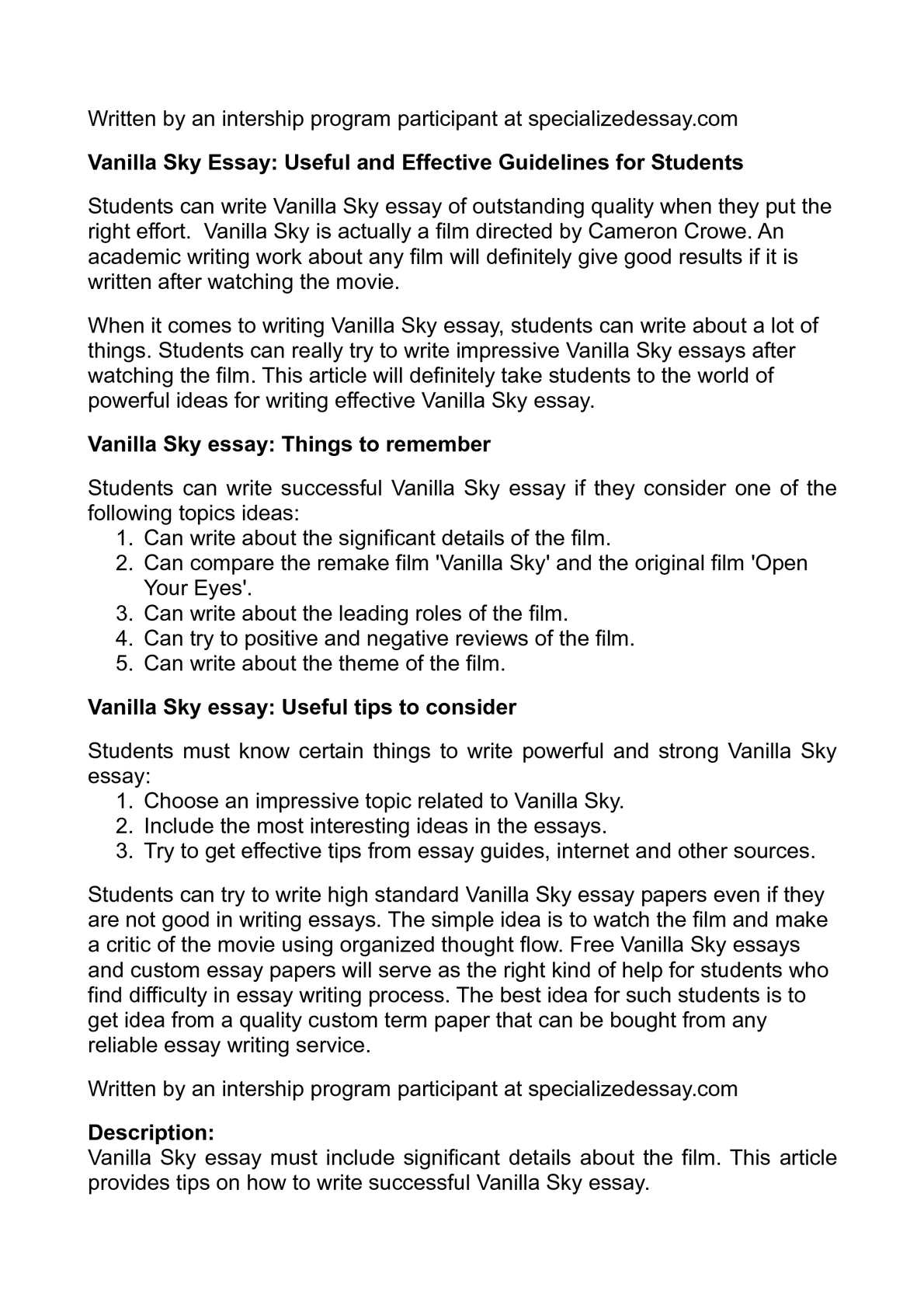 Classification Essay Topics How To Write An Essay About A Movie Flannery O Connor Essays also Martin Luther King Essays How To Write An Essay About A Movie  How To Write An Essay About A  Punishment In School Essay