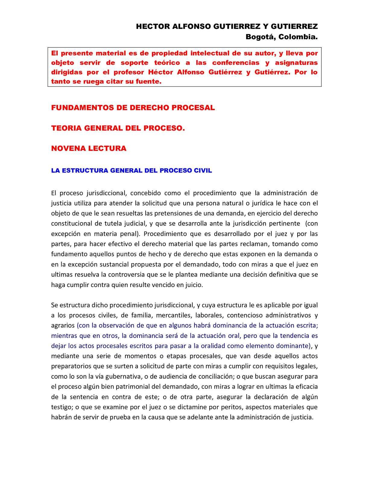 Calaméo - ESTRUCTURA GENERAL DEL PROCESO JURISDICCIONAL - COLOMBIA