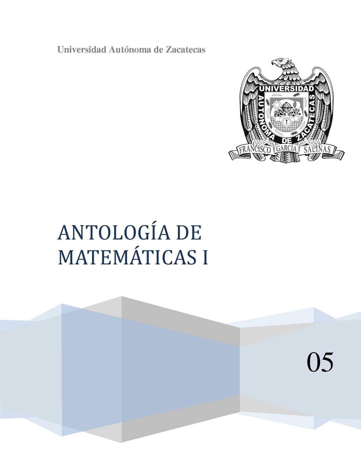 Antología Matemáticas 1