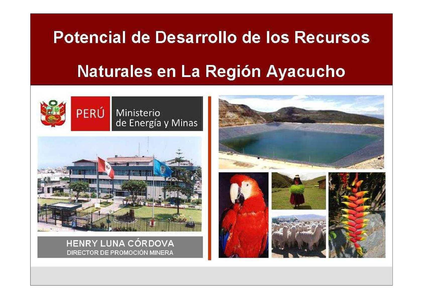 POTENCIAL MINERO D ELA REGIÓN AYACUCHO