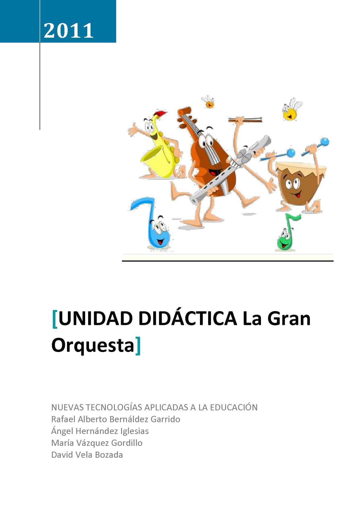 Unidad didáctica La Gran Orquesta
