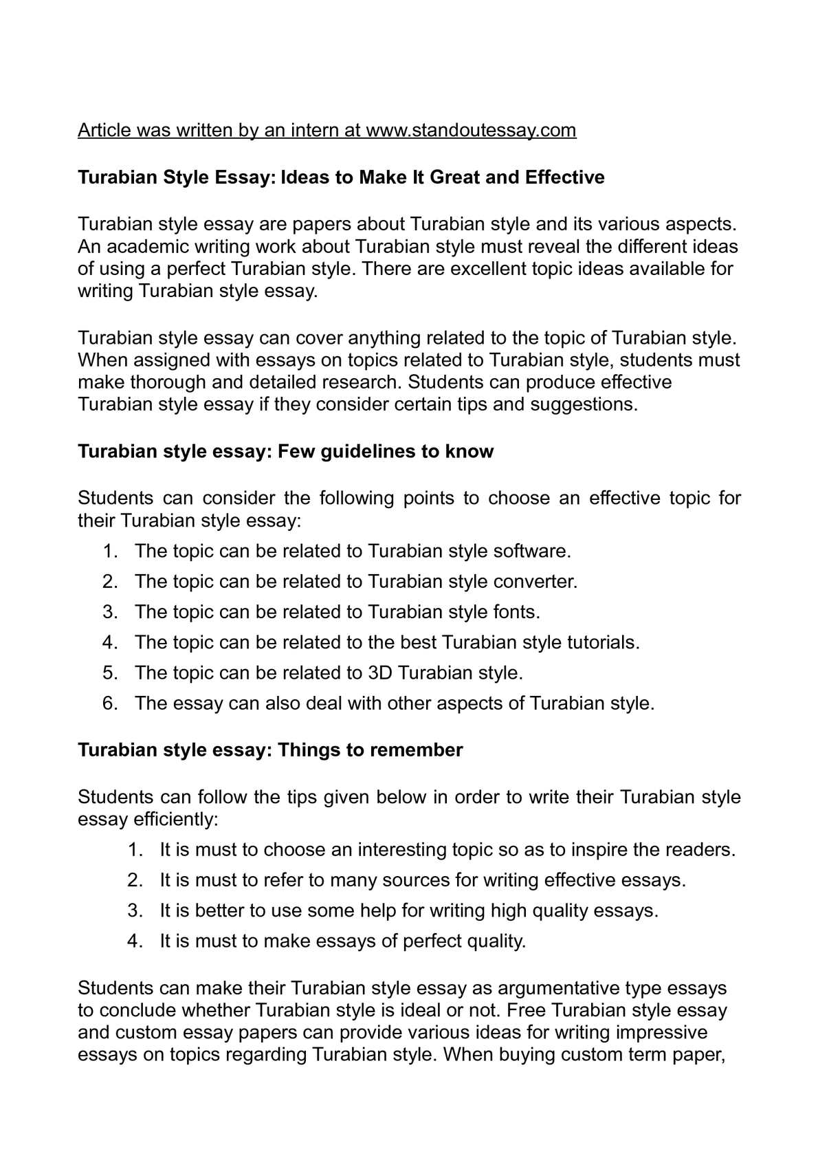 turabian style font Centered and bold, in 12 point font in turabian style, there are two citation options the first uses footnotes or endnotes, and the other uses.