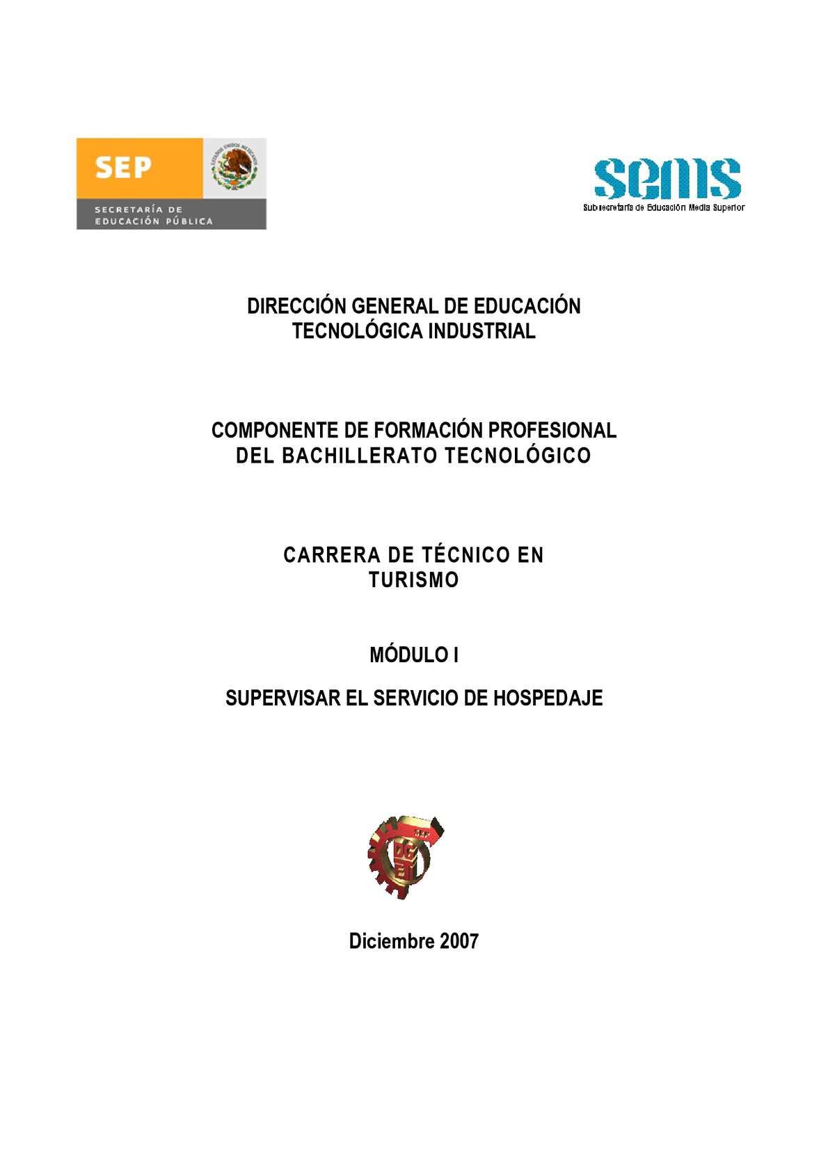 Calaméo - Módulo I Supervisar el servicio de hospedaje