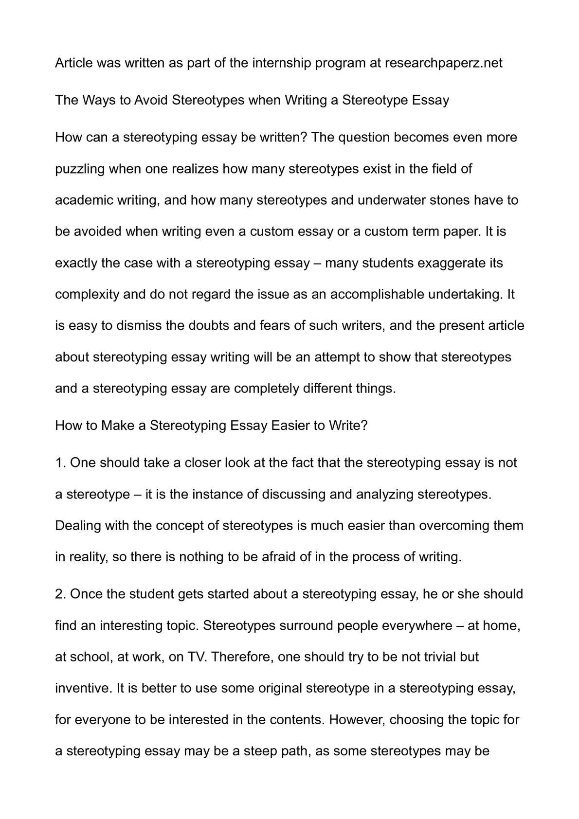 Essays On Different Topics In English  English Argument Essay Topics also Synthesis Essay Topic Ideas Calamo  The Ways To Avoid Stereotypes When Writing A Stereotype Essay Assignment Help Toronto