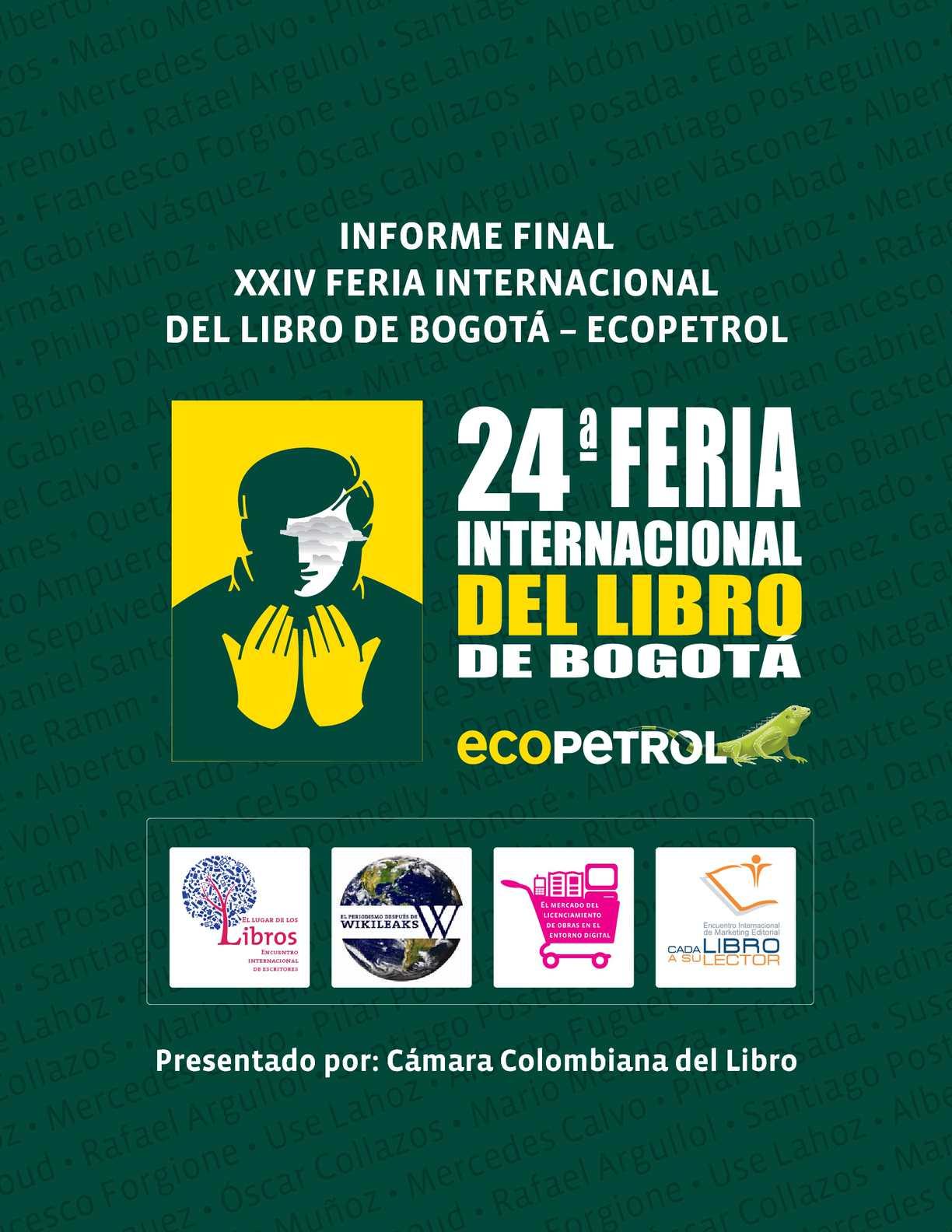Calam O Informe De Resultados 24 Feria Internacional Del Libro  # Muebles Gema Bogota