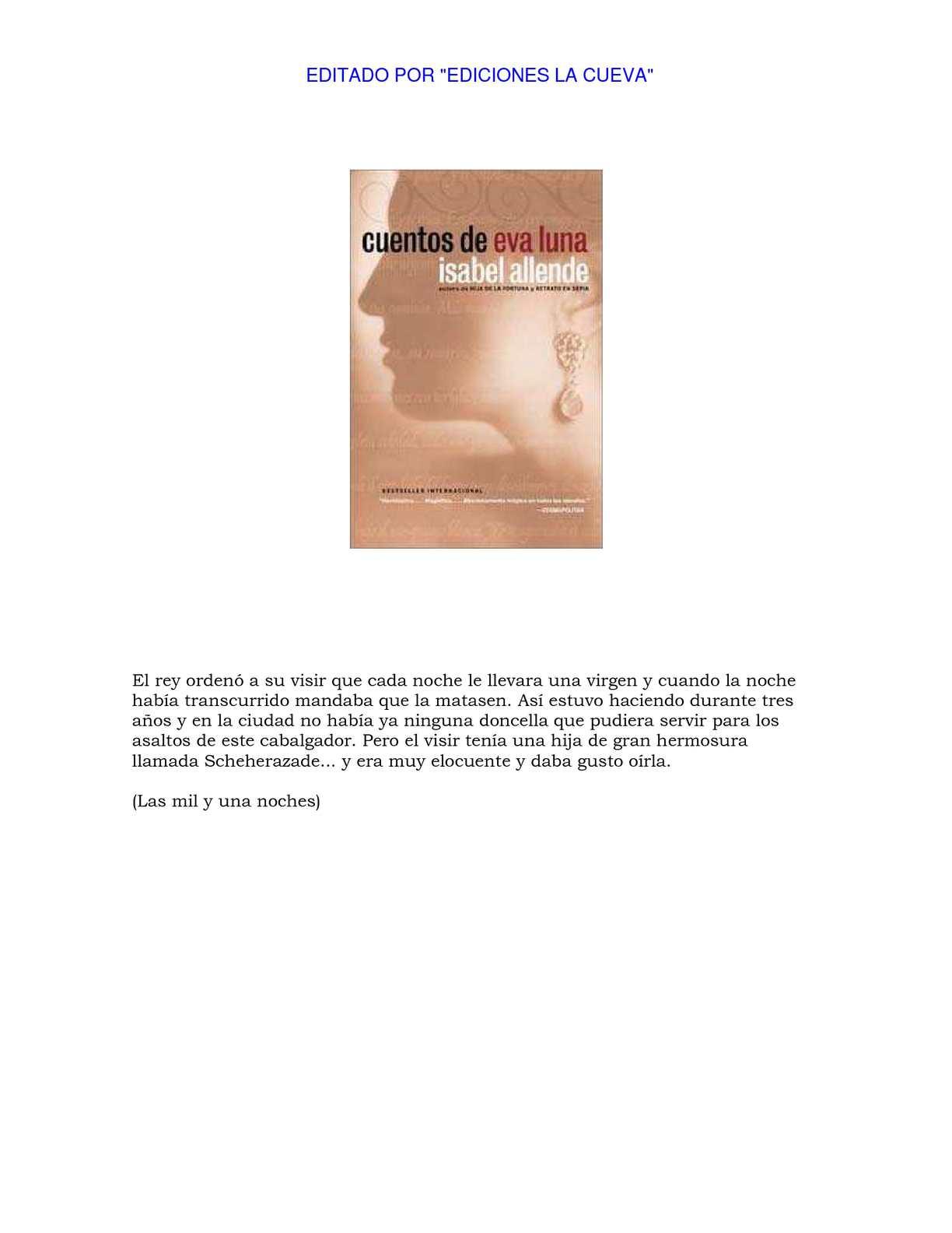 Calaméo - Cuentos de Eva Luna - Isabel Allende