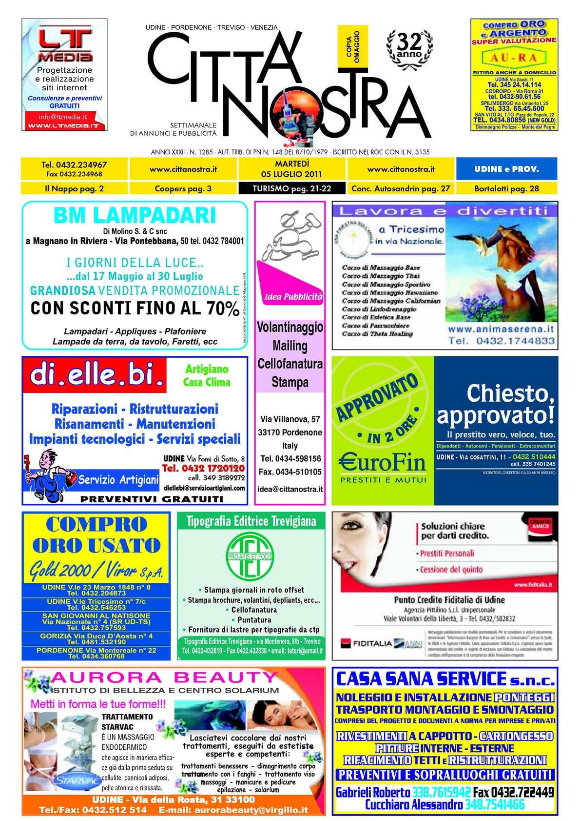 Calaméo Citt Nostra Udine Del 05 07 2011 N 1285
