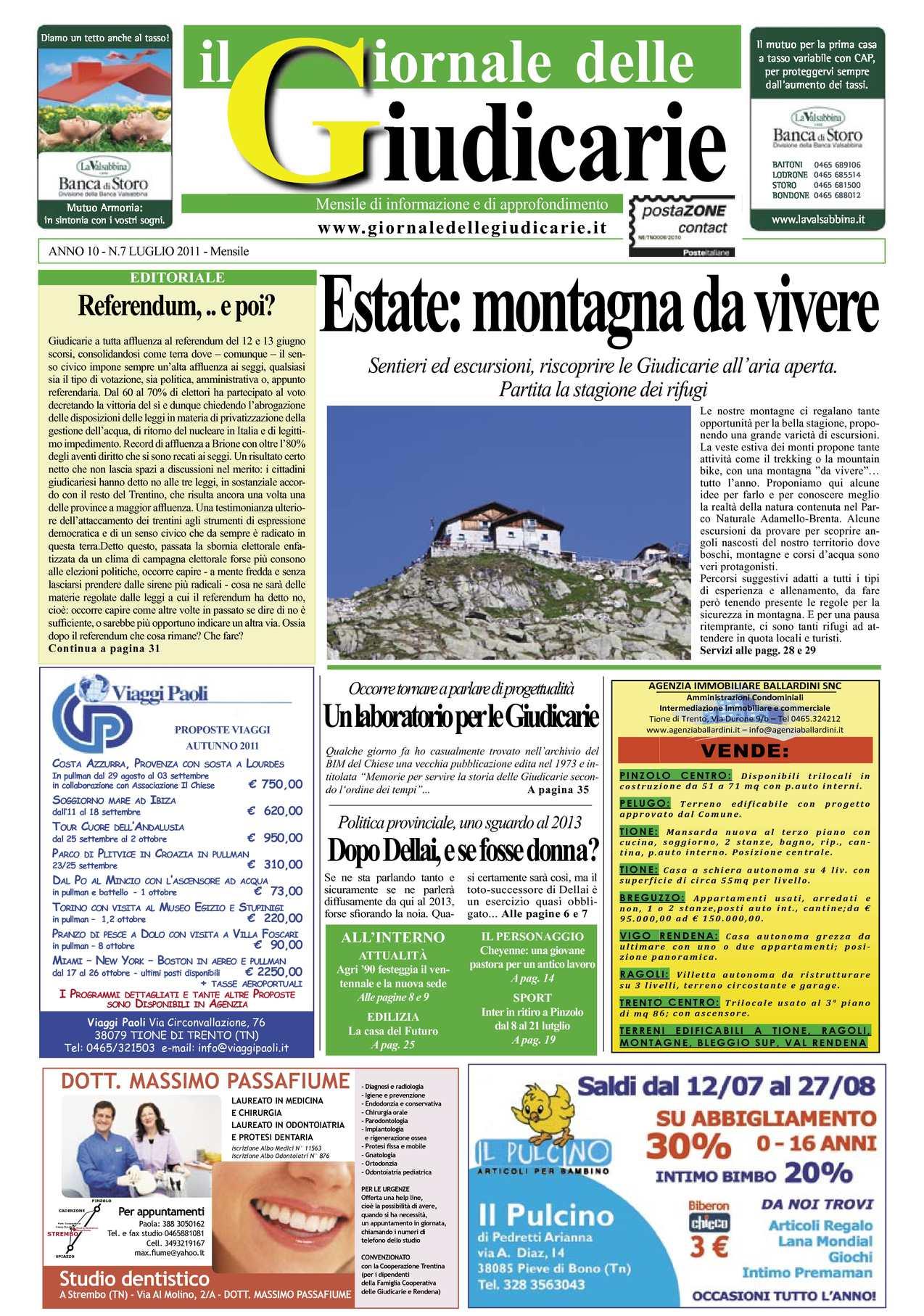 Calaméo Giornale Delle Giudicarie Luglio 2011