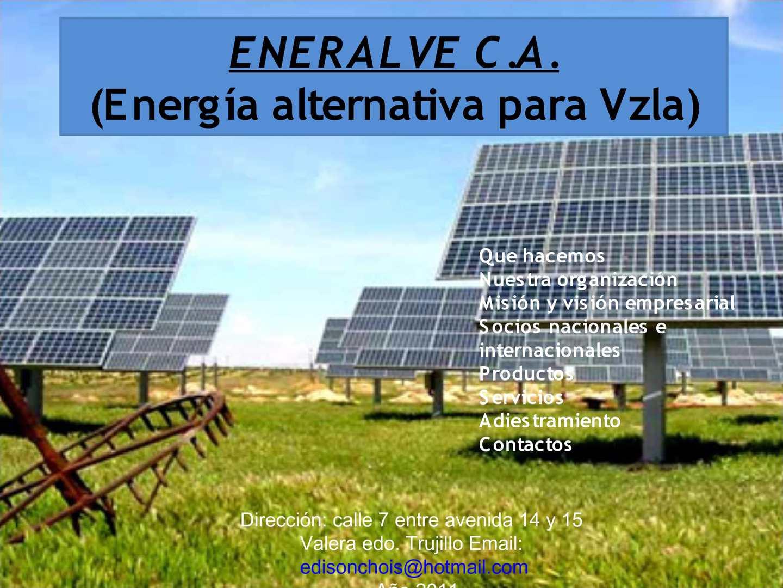 eneralve (energia alternativa para Vzla)