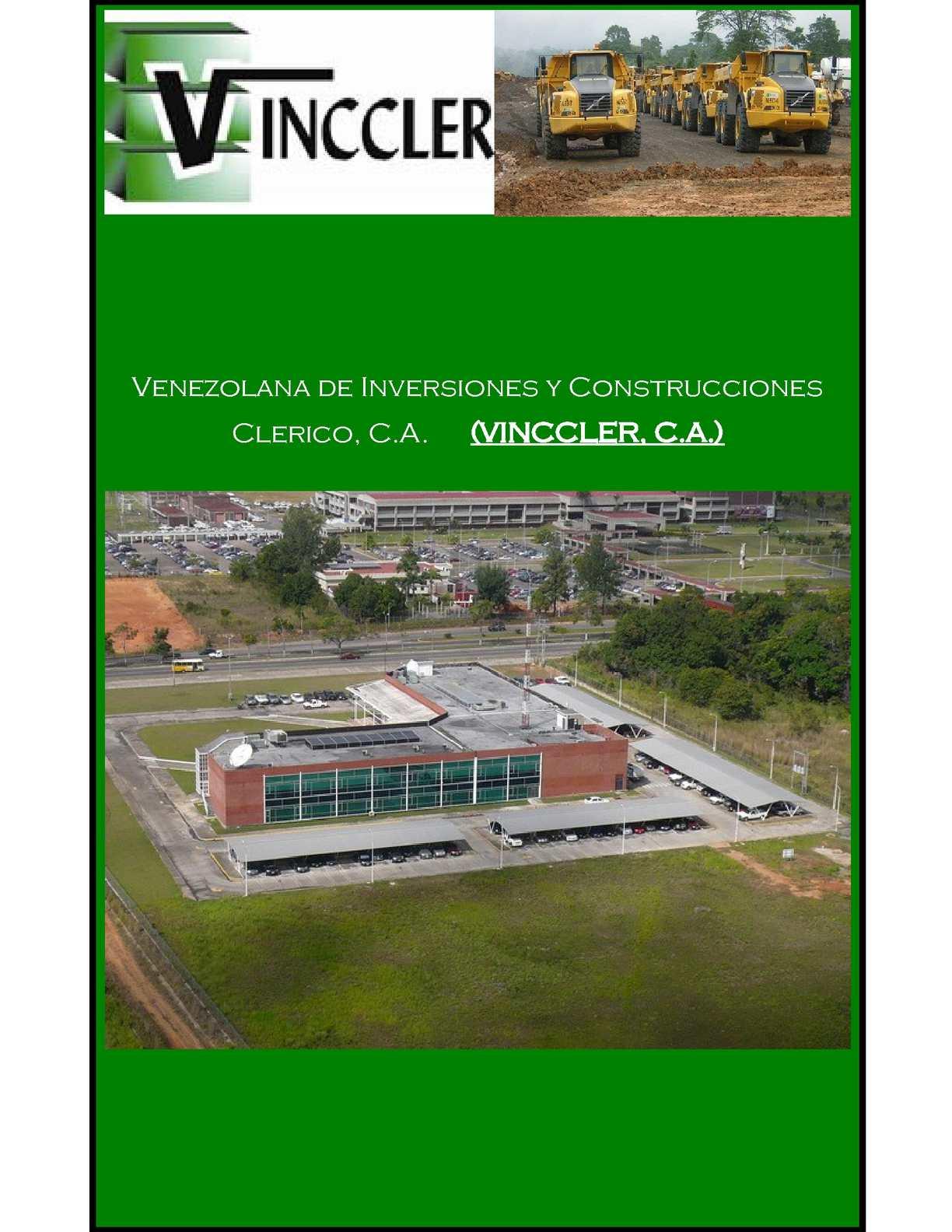 Venezolana de Inversiones y Construcciones Clerico, C.A. (VINCCLER, C.A.)VINCCLER, C.A