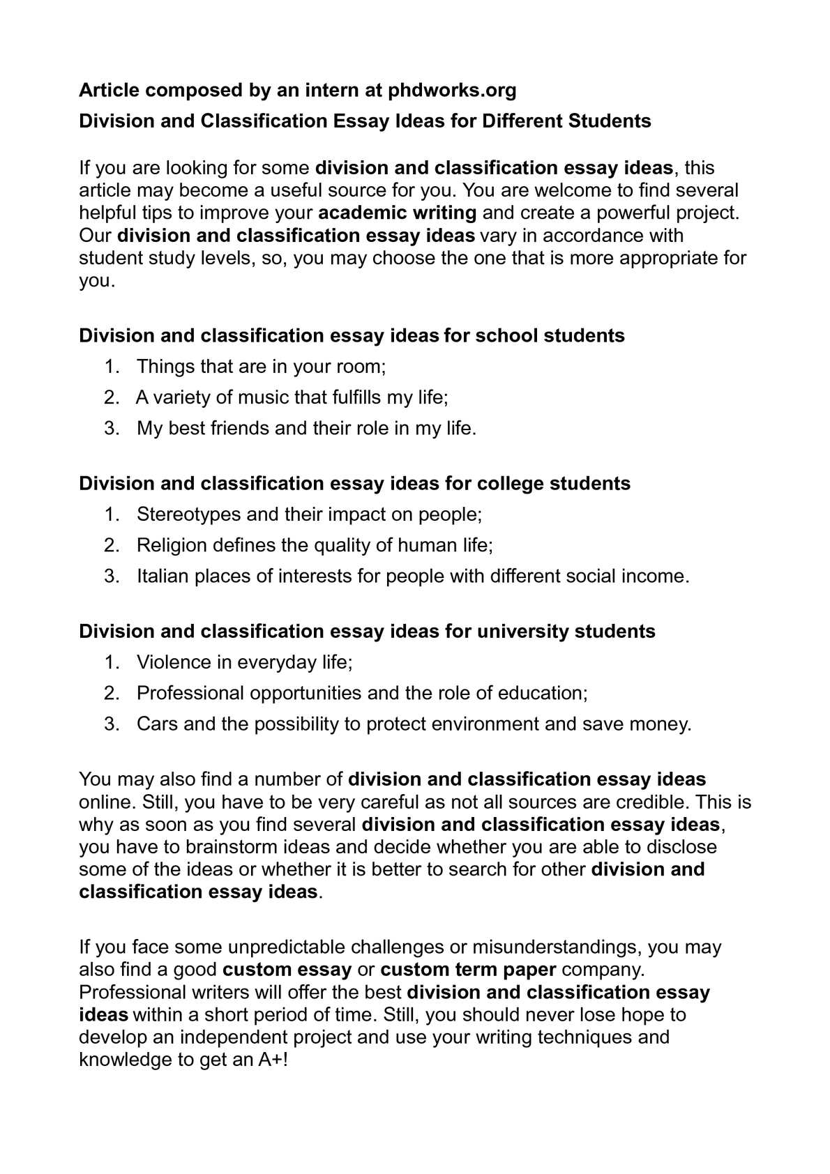 calam atilde copy o division and classification essay ideas for different calamatildecopyo division and classification essay ideas for different students