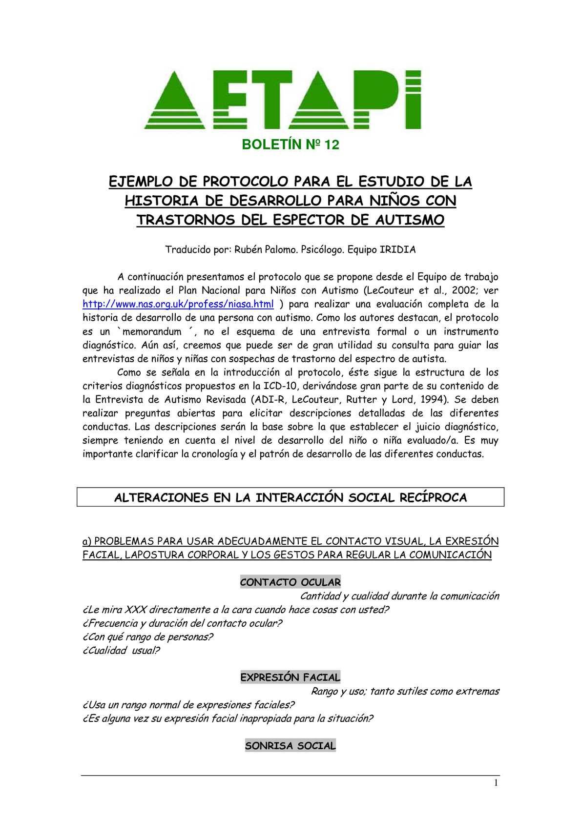 Calaméo - EJEMPLO DE PROTOCOLO PARA EL ESTUDIO DEL SA