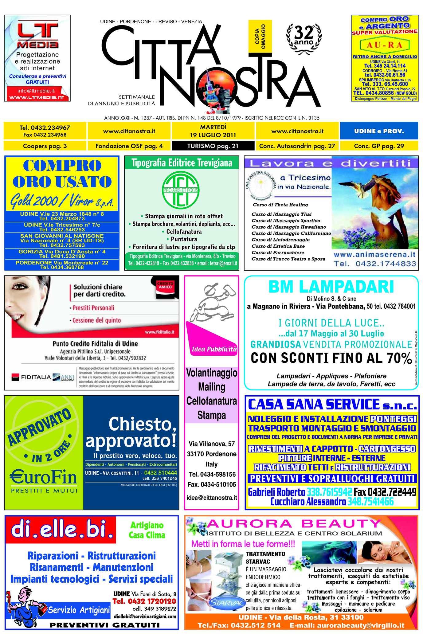 Calaméo Citt Nostra Udine Del 19 07 2011 N 1287