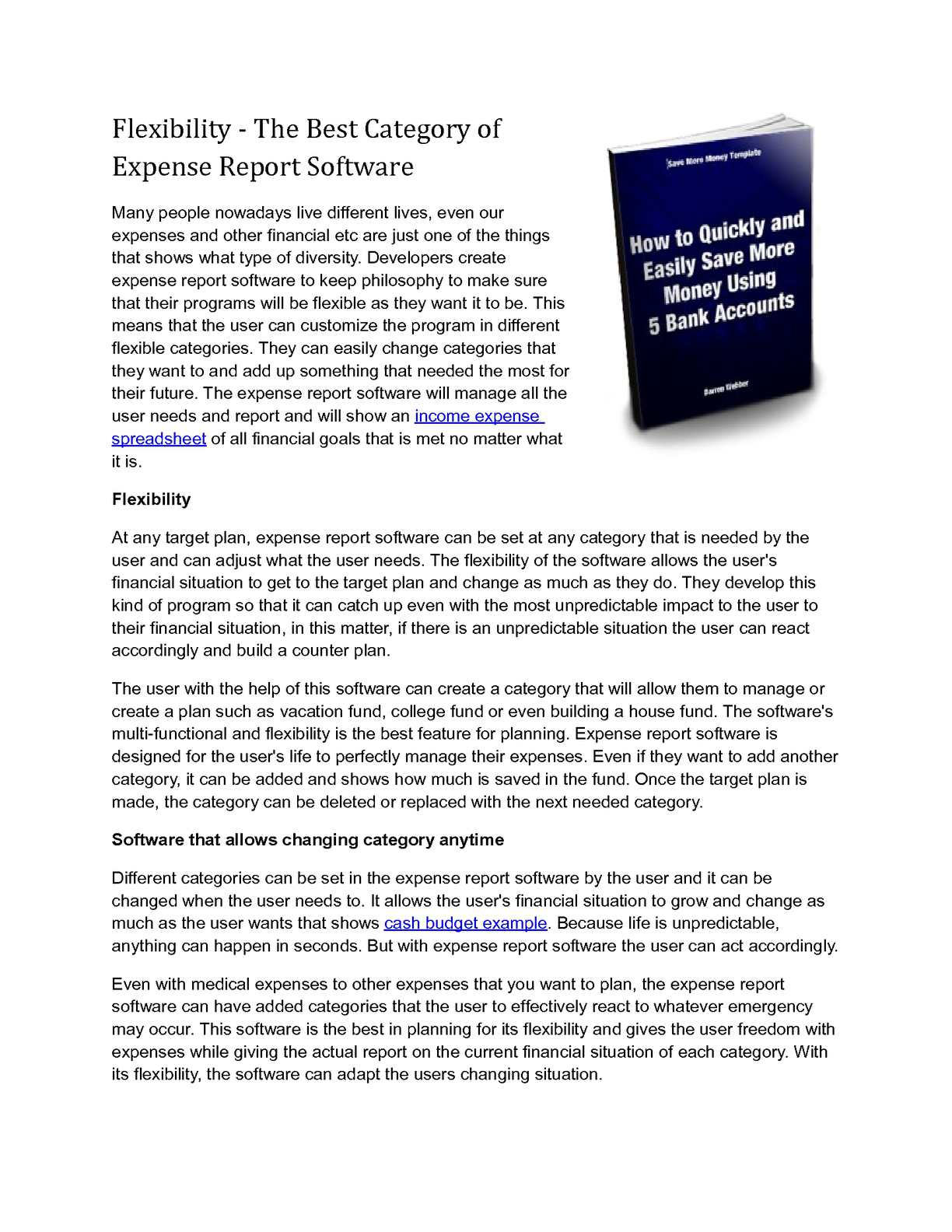 calaméo flexibility the best category of expense report software