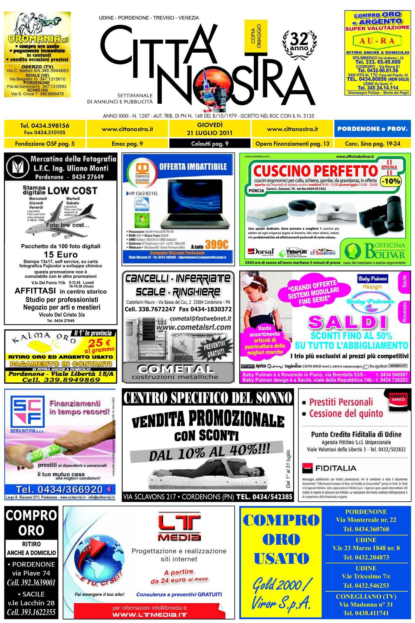 Calaméo Citt Nostra Pordenone Del 21 07 2011 N 1287