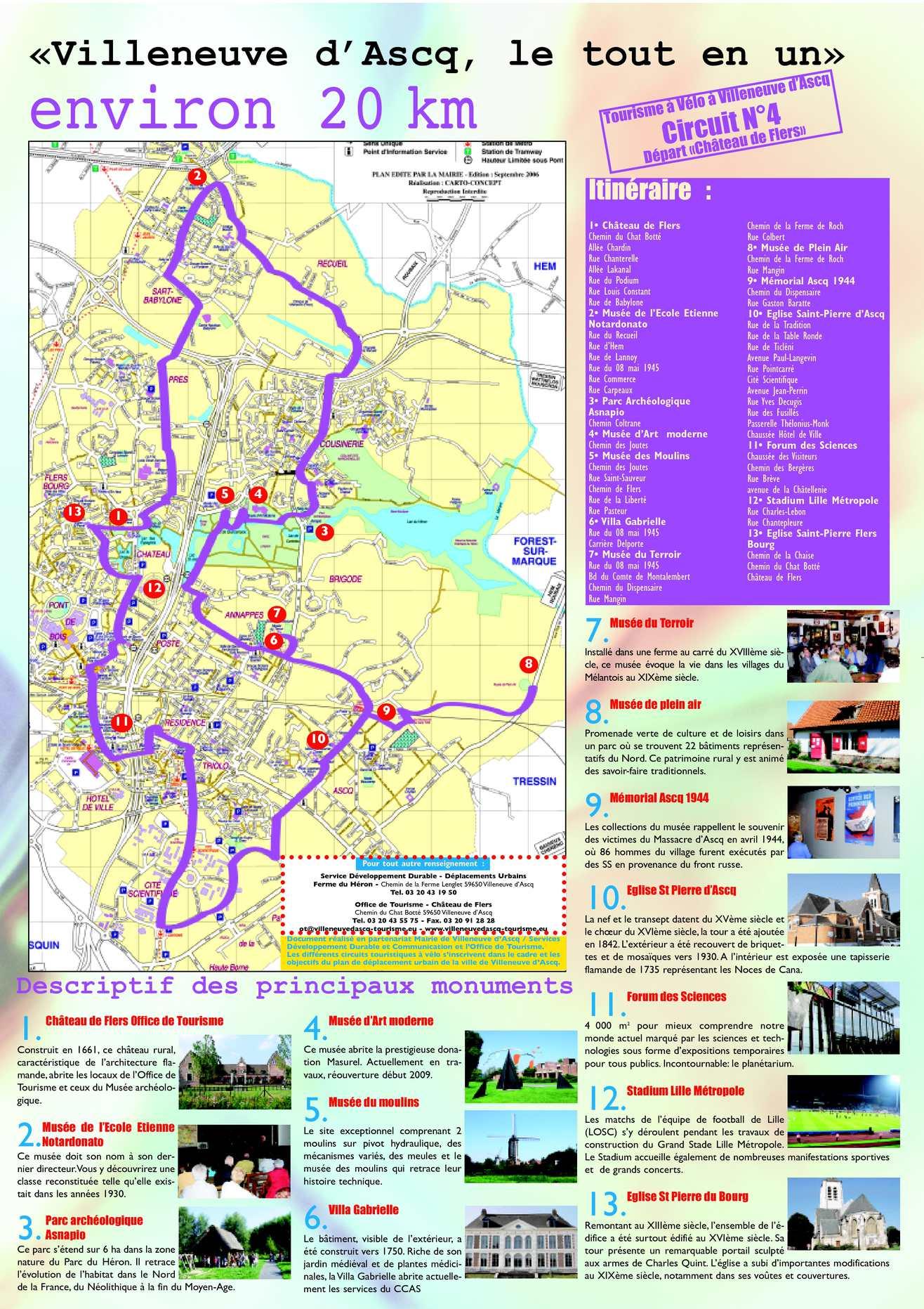Calam o circuit v lo n 4 villeneuve d ascq le tout - Office du tourisme villeneuve d ascq ...