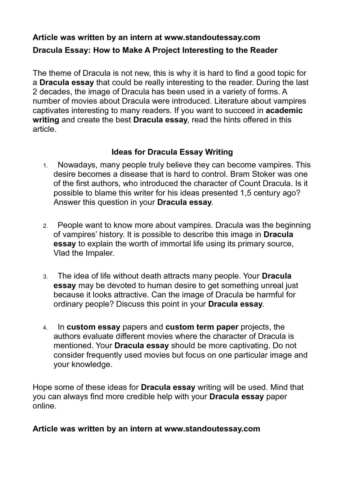 English Language Essay  Science And Literature Essay also English Sample Essays Calamo  Dracula Essay How To Make A Project Interesting To The Reader Health And Social Care Essays