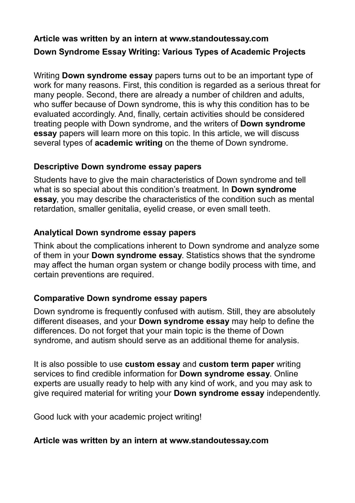 calam atilde copy o down syndrome essay writing various types of academic calamatildecopyo down syndrome essay writing various types of academic projects