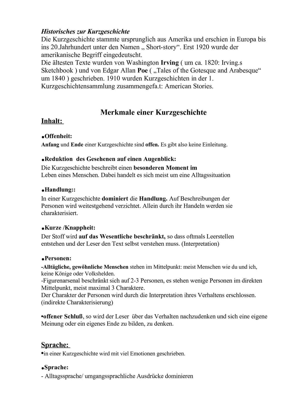 Arbeitsblatt Interpretation Kurzgeschichte : Calaméo wie schreibe ich eine interpretation einer