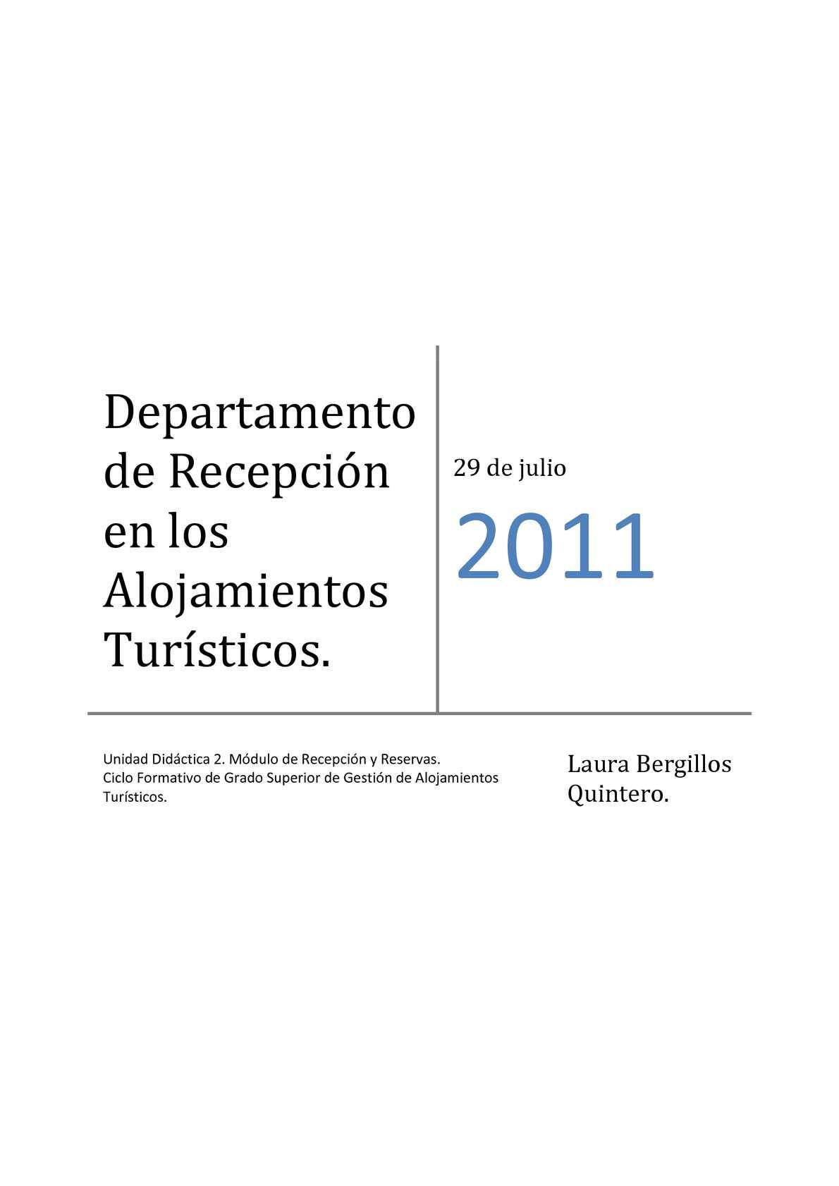 Calaméo - Unidad Didáctica del Departamento de Recepción en los ...