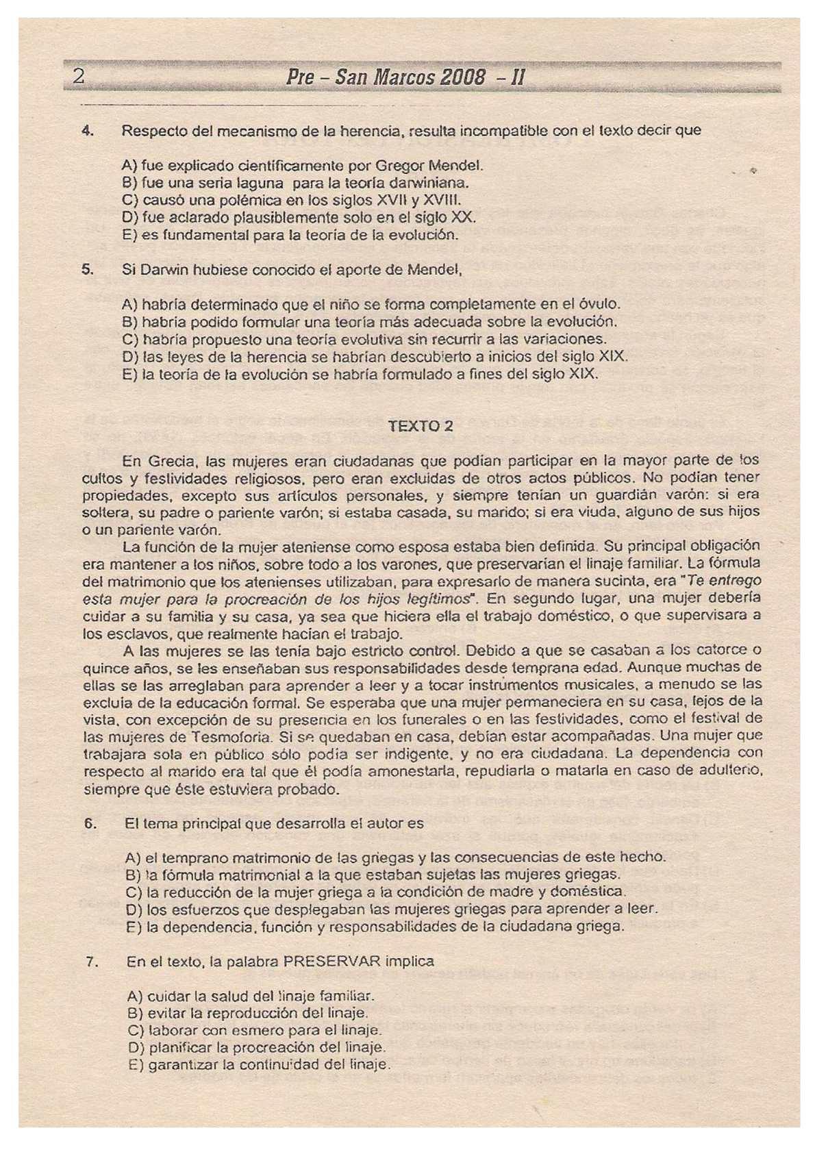 1er. Examen Pre San Marcos 2008-II - CALAMEO Downloader