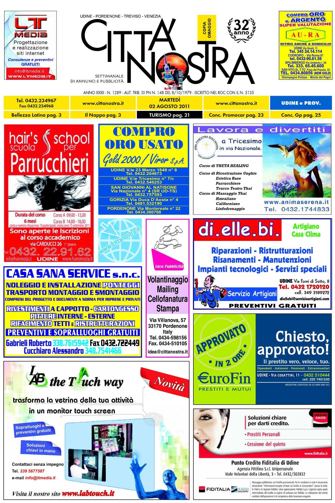 Calaméo Citt Nostra Udine Del 02 08 2011 N 1289