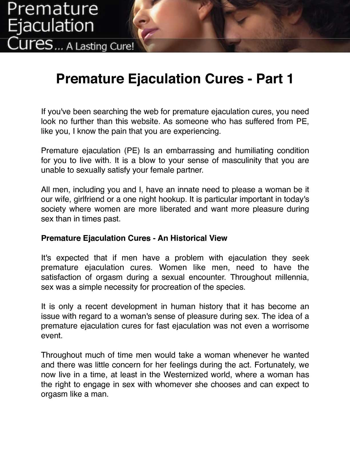 Pre mature ejaculation cures sexy lesbian