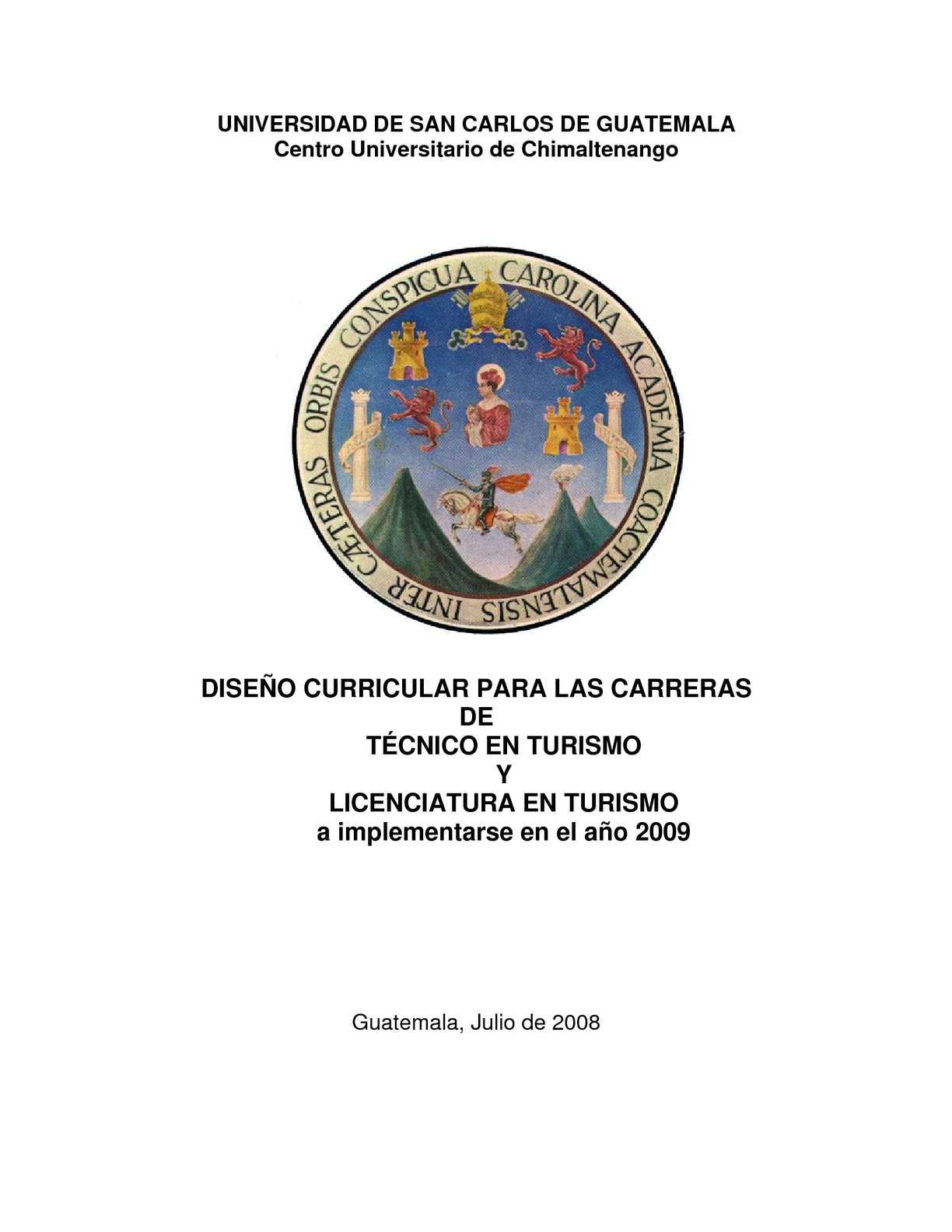 Calaméo - DISEÑO CURRICULAR DE LA CARRERA DE TURISMO EN EL CUNDECH