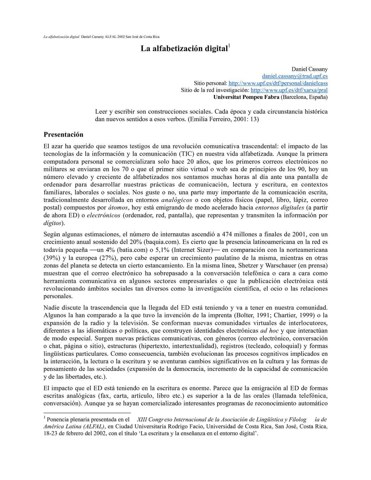 Calaméo - La albafetización digital Cassany