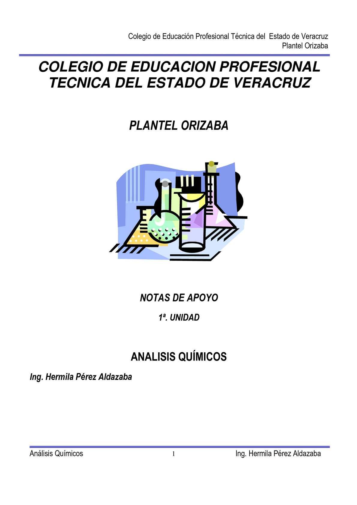 Calaméo - Notas de apoyo 1a. Unidad de Anàlisis Quìmicos