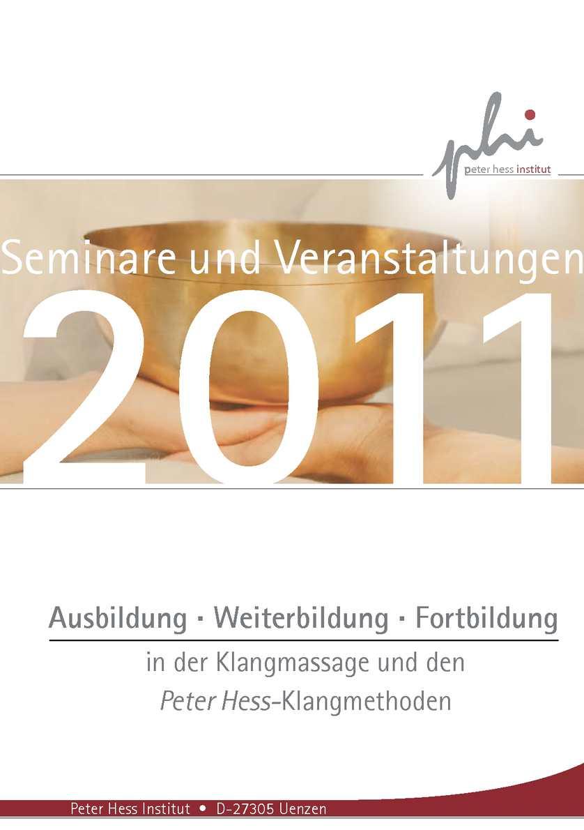 Calaméo - Programmheft 2011 des Peter Hess Instituts