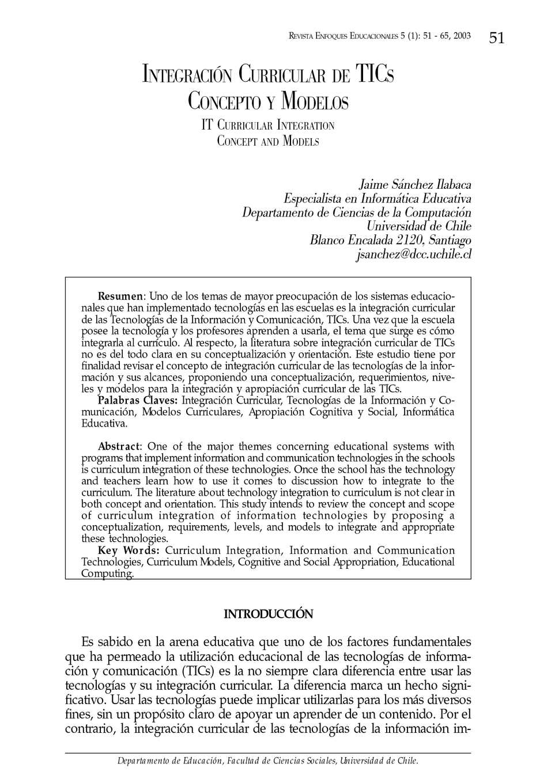 Calaméo - Integración Curricular de las TIC