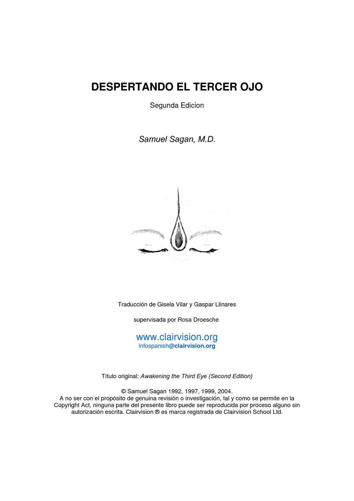 Calaméo - DESPERTANDO EL TERCER OJO. Samuel Sagan, M.D. (segunda ...