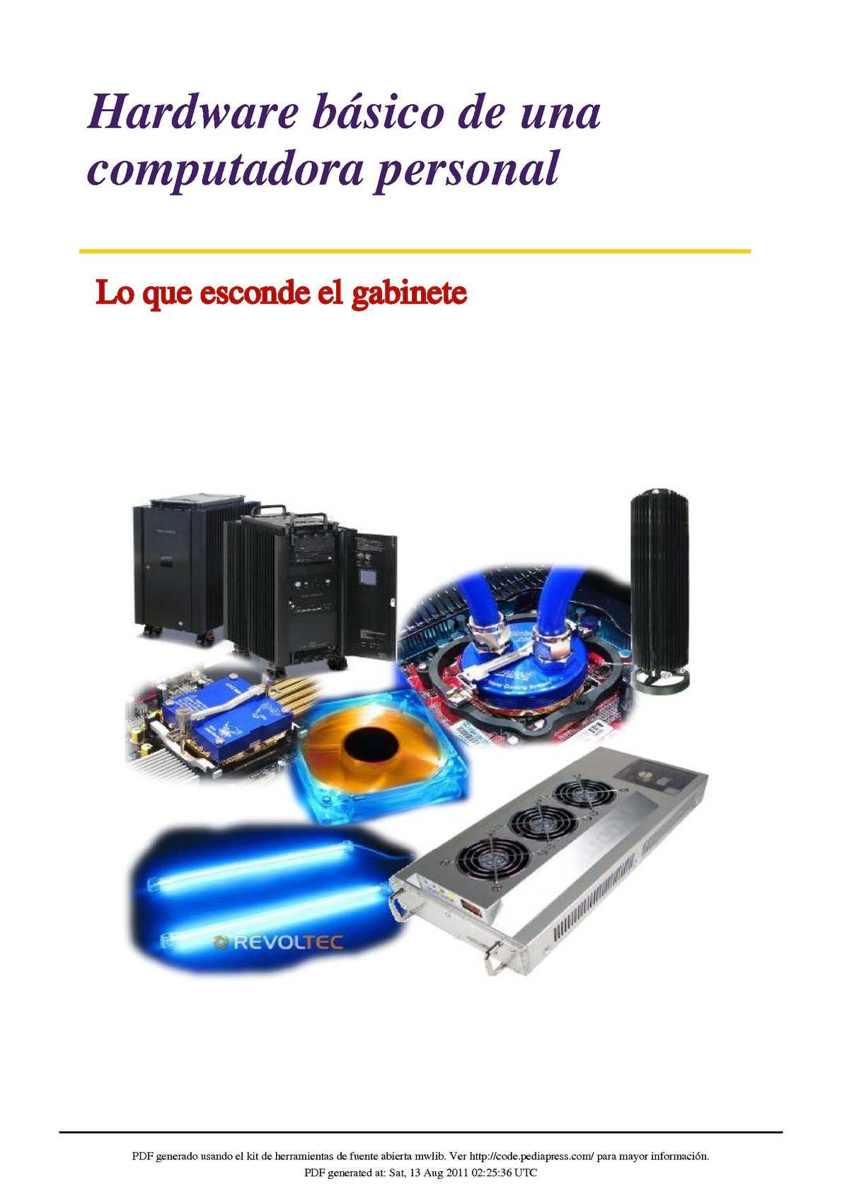 Calam O Hardware B Sico De Una Computadora Personal Lo