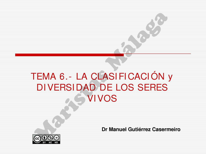 1º BAC-TEMA 06 Clasificación y diversidad de los seres vivos