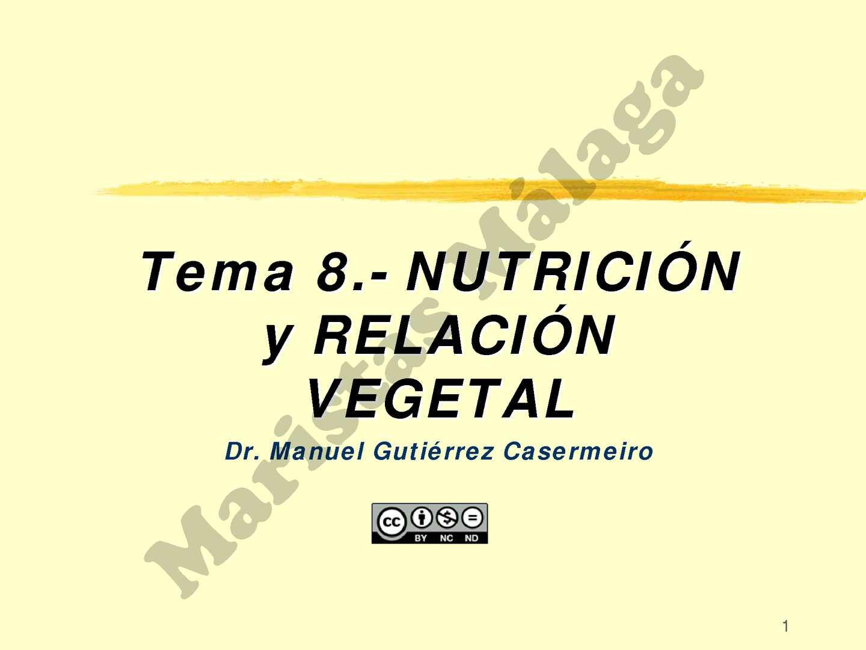 1º BAC-TEMA 08 Nutricion en plantas