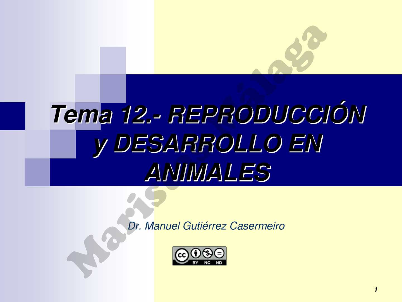 1º BAC-TEMA 12 Reproduccion