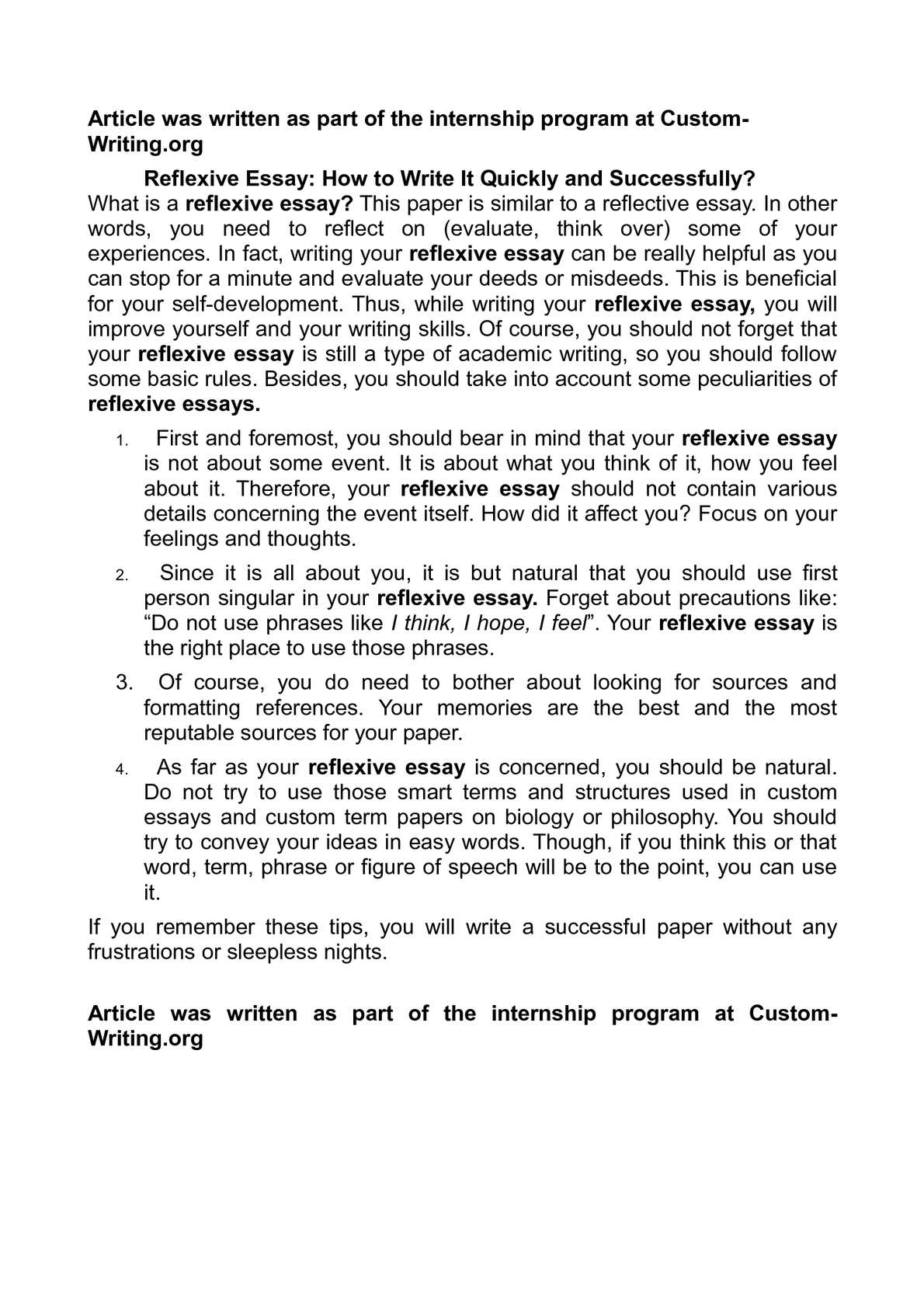 Calamo  Reflexive Essay How To Write It Quickly And Successfully  Annotated Bibliography Help also Essay Vs Paper  Write My Assinment