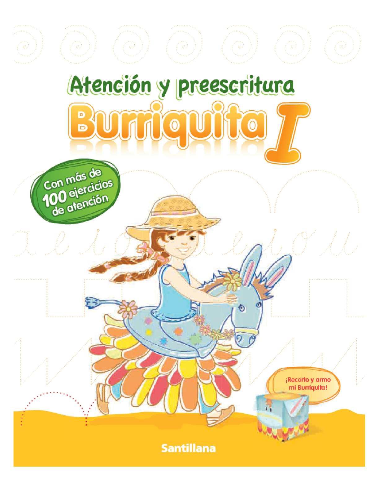 Atención y preescritura Burriquita I