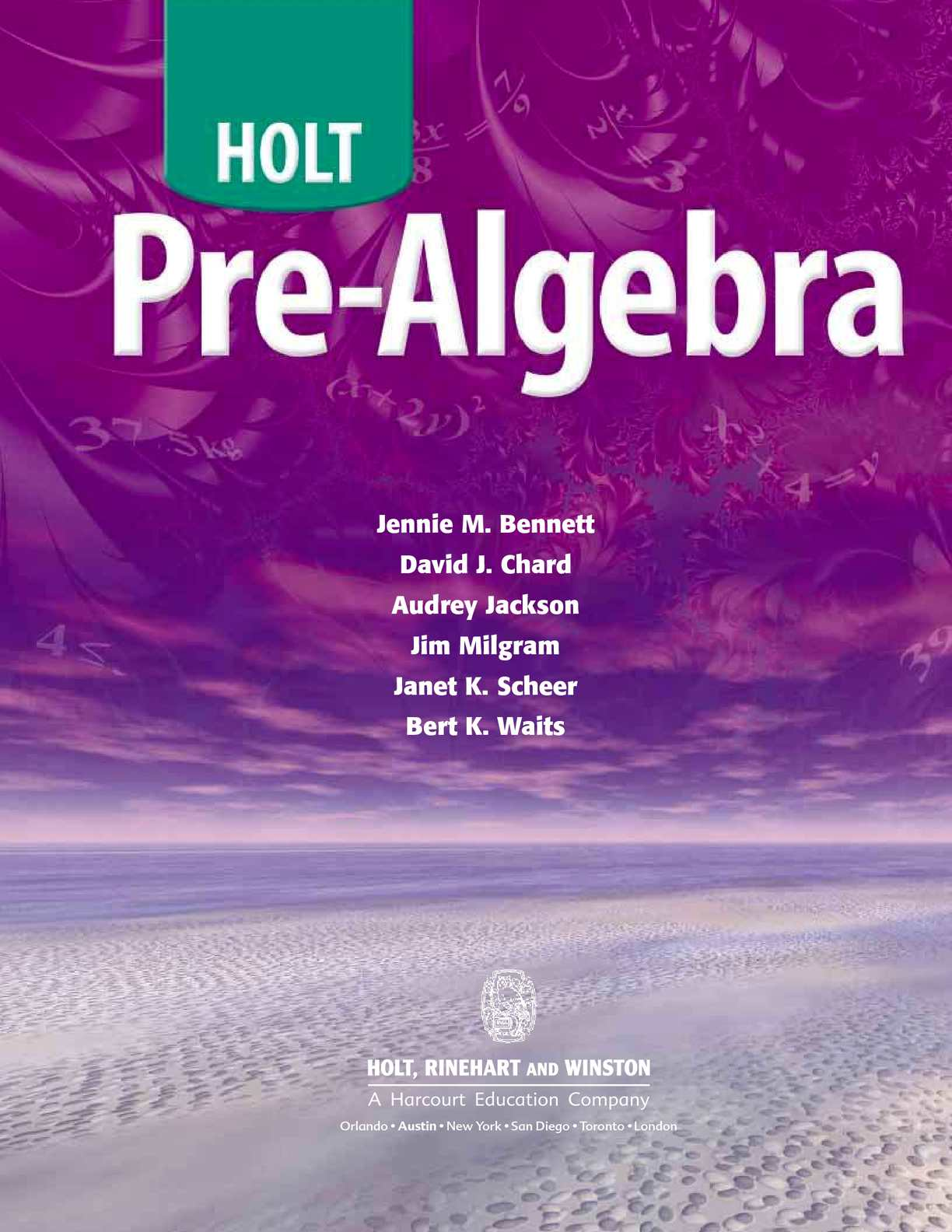 Calam o Pre Algebra HOLT – Holt Middle School Math Worksheets