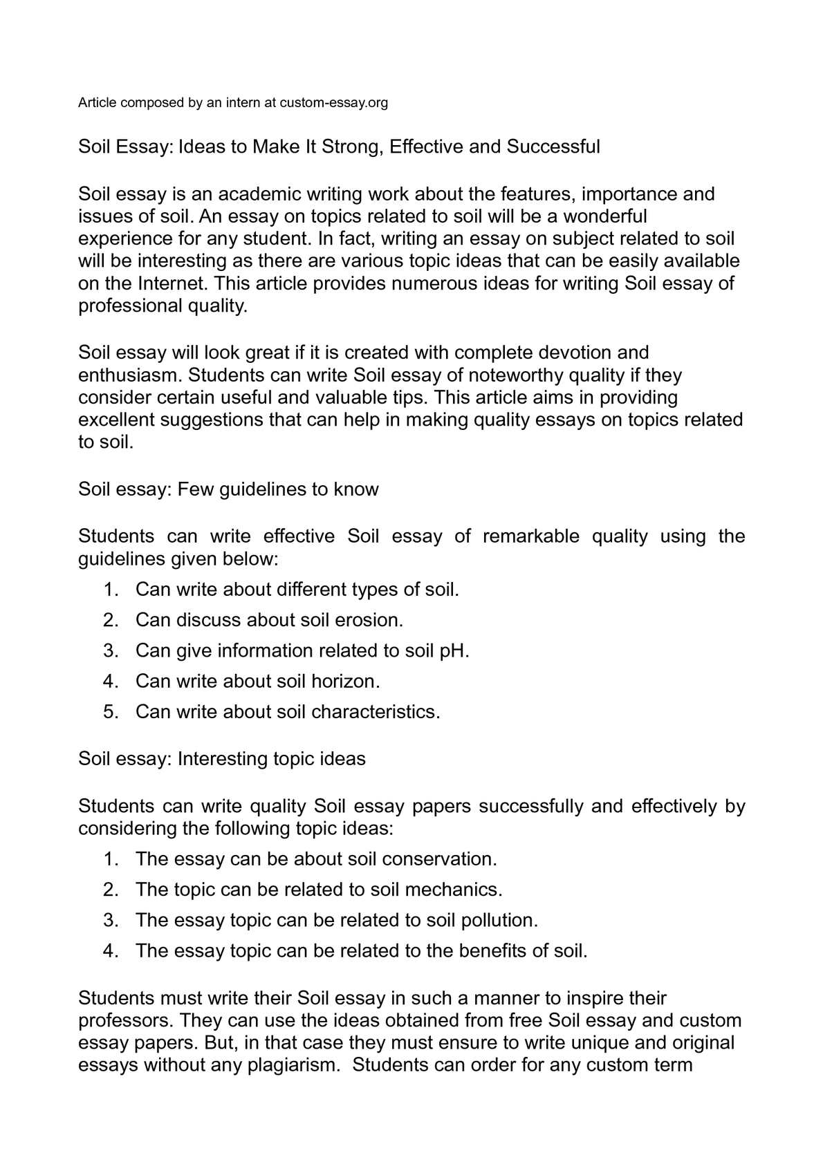 Thesis Statement For Education Essay  Healthy Diet Essay also Business Management Essays Calamo  Soil Essay Ideas To Make It Strong Effective And Successful Essay On Modern Science