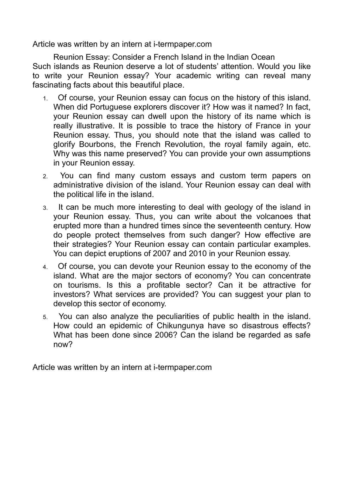 Age of reason essay