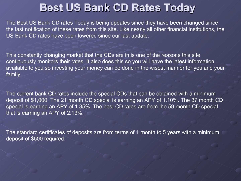 Calamo Best Us Bank Cd Rates Today