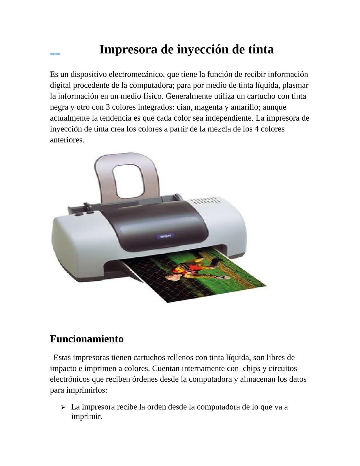 Calaméo - Impresora de inyección de tinta